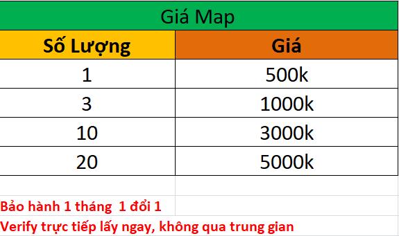 bảng giá dịch vụ xác minh googlemaps